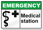 Medical Station Emergency Signs