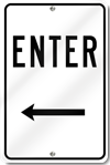 Enter With Left Arrow Sign