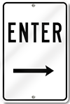 Enter With Right Arrow Sign