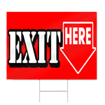 Exit Here Sign