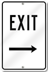 Exit With Right Arrow Sign