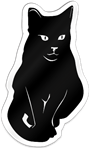 Black Cat Shaped Magnet