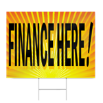 Finance Here Sign