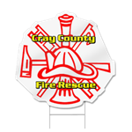 Fire Fighter Badge Shaped Magent