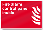 Fire Alarm Control Panel Inside Fire Signs