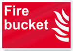 Fire Bucket Fire Signs