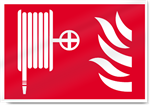 Fire Hose And Flames Symbol Fire Signs