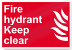 Fire Hydrant Keep Clear Fire Signs