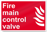 Fire Main Control Valve Fire Signs