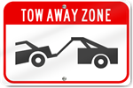 Horizontal Tow Away Zone (Graphic) Sign