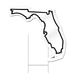 Florida Shaped Sign