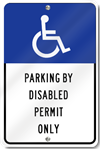 Florida Handicapped Reserve Parking Sign