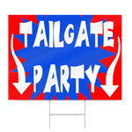 Football Tailgate Party Sign