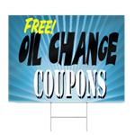 Free Oil Change Coupon Sign