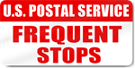 U.S. Postal Service Frequent Stops Magnet