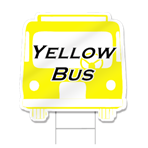 Front Of Bus Shaped Sign