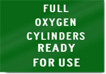 Full Oxygen Cylinders Sign