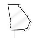 Georgia Shaped Sign
