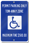 Georgia Handicapped Signs