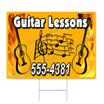 Guitar Lessons Sign