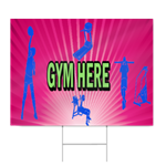 Gym Here Sign