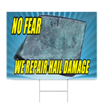 Hail Damage Sign