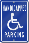 Handicapped Symbol Parking Sign