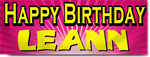 Pink Happy Birthday Banners
