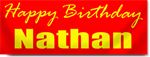 Birthday Banner in Red