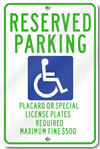 Metal Handicapped Signs for Hawaii