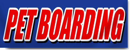 Pet Boarding Block Lettering Banner