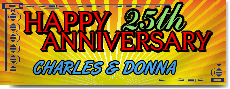 Happy Anniversary Customizable Banner