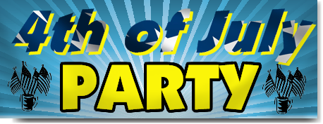 4th of July Party Banners