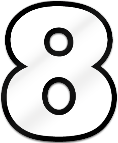 Number Eight Shaped Magnet