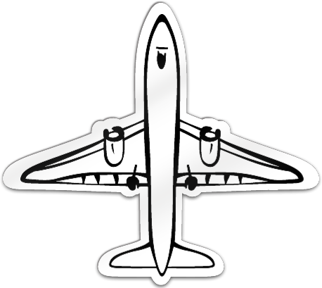 Airplane Shaped Magnet