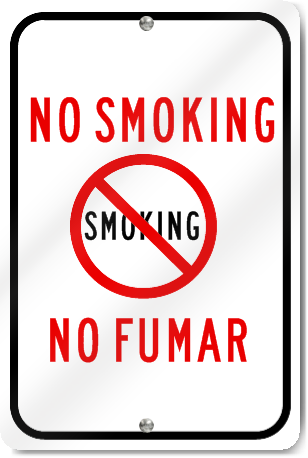 No Smoking Spanish/English Sign