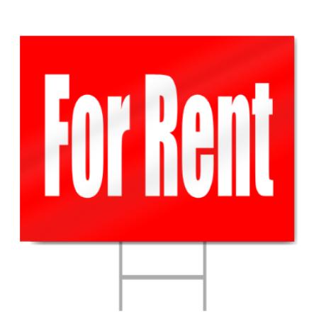 apartment for rent sign. Black Bedroom Furniture Sets. Home Design Ideas
