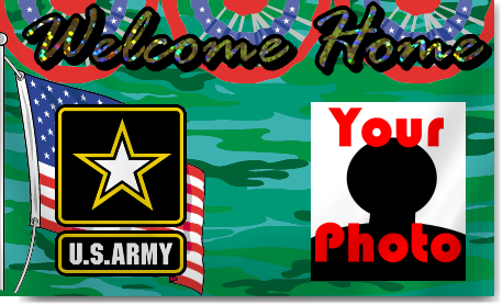 Army Welcome Home Banners with Photo