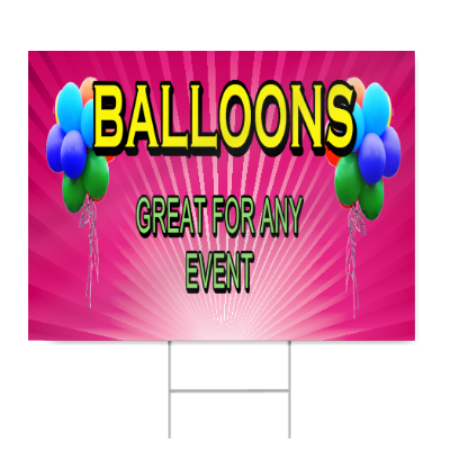 Balloons Sign