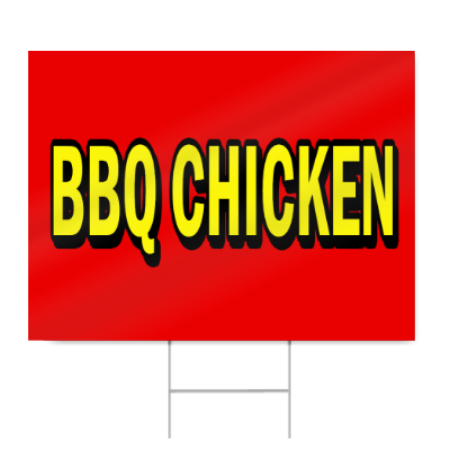 Chicken-Barbeque-Concession-Decal-14-Food-Signs   Bbq Chicken Sign