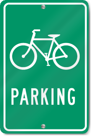 Bicycle Parking (Bicycle Graphic) Sign