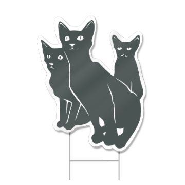 Cats Shaped Sign