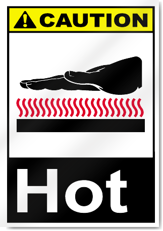 Hot Caution Signs