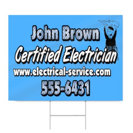 Certified Electrician Sign
