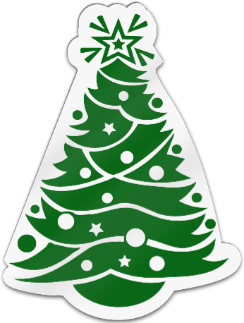 Christmas Tree Shaped Magnet