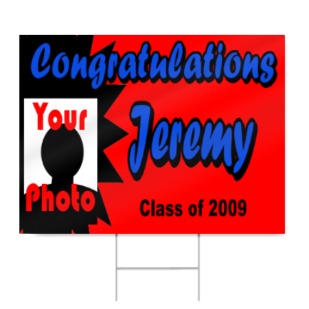 Custom Graduation Sign with Photo