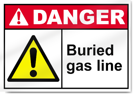 Buried Gas Line Danger Signs
