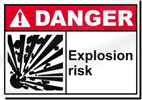 Explosion Risk Danger Signs Signstoyou Com