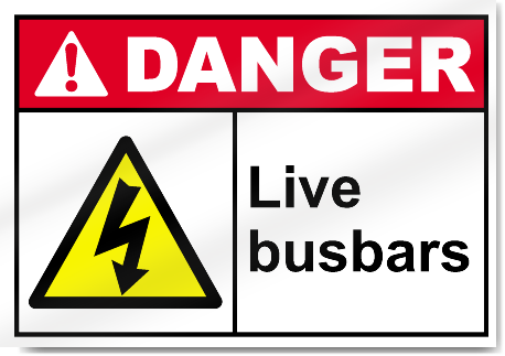 Live Busbars Danger Signs