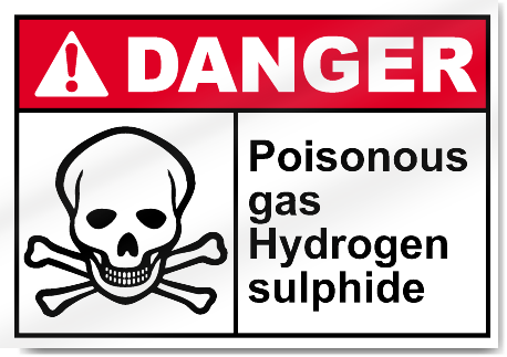 Poisonous Gas Hydrogen Sulphide Danger Signs